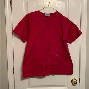 Deep Red Nurse's Scrubs by Landau